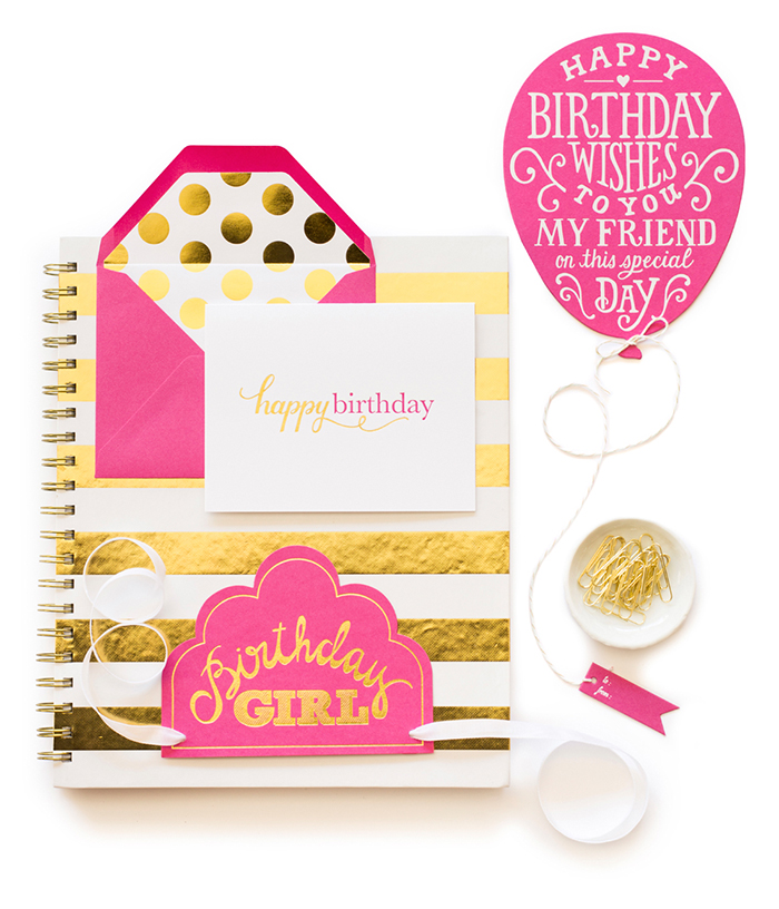 Sugar Paper Gold & Pink Goods | Crow and Canary Blog